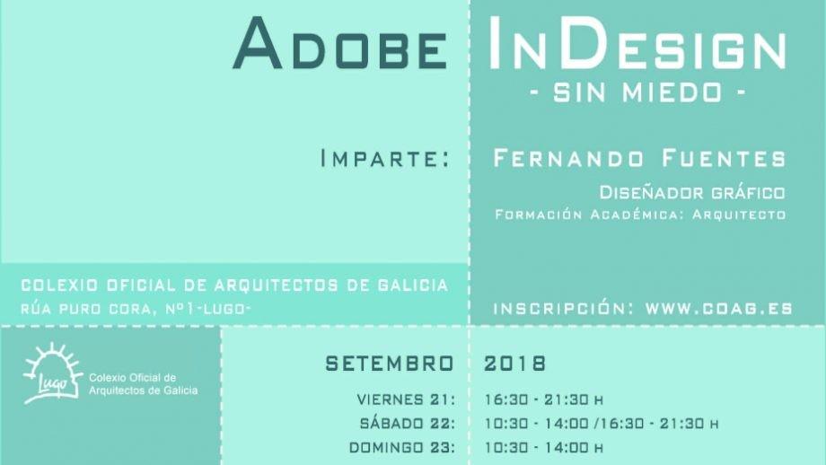 Curso de Maquetación con Adobe InDesign. Fin de prazo de matrícula