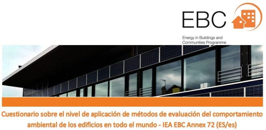 Encuesta sobre métodos de evaluación del comportamiento ambiental de los edificios – España