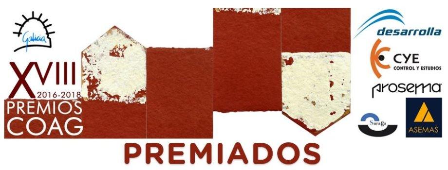 Publicación das propostas premiadas dos XVIII Premios COAG de Arquitectura
