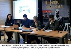 Gravación da Mesa Redonda: «Alejandro de la Sota: Vixencia do seu legado» | Delegación de Lugo 22 de xaneiro de 2019