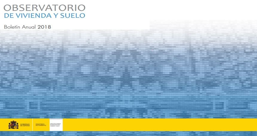 Boletín anual 2018 del Observatorio de Vivienda y Suelo