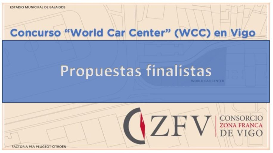Propuestas del Concurso «World Car Center» (WCC) en Vigo