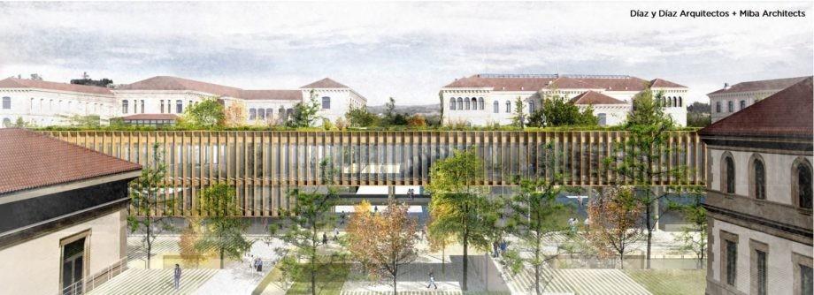 A proposta de Díaz y Díaz Arquitectos e Miba Architects gaña o Concurso de Ideas para a reforma interior do Complexo Administrativo de San Caetano