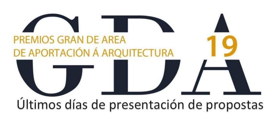 Últimos días de presentación de propostas para os Premios Gran De Area 2019