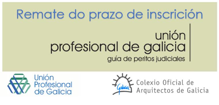 Últimos días para a inscrición na Guía de Peritos Xudiciais da Unión Profesional de Galicia