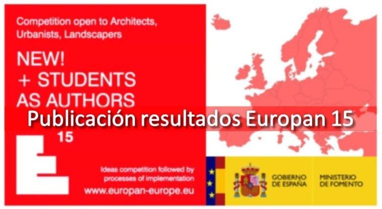 Publicados los resultados de EUROPAN 15