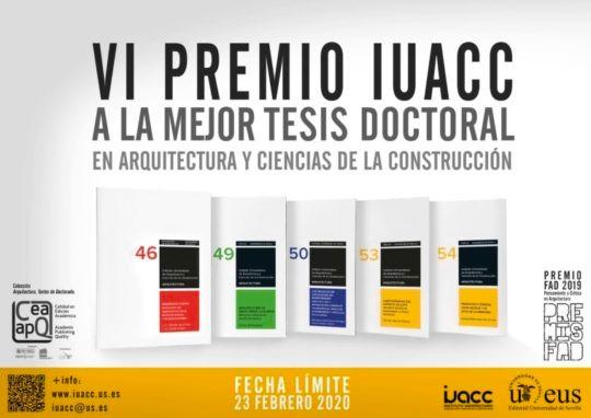 VI Premio IUACC a la mejor tesis doctoral en Arquitectura y Ciencias de la Construcción 2020