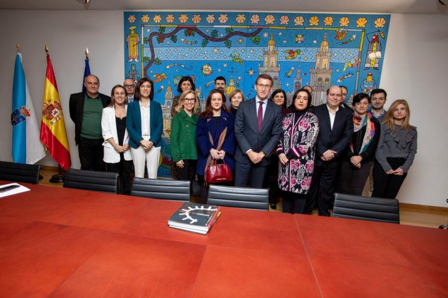 Reunión co Presidente da Xunta de Galicia