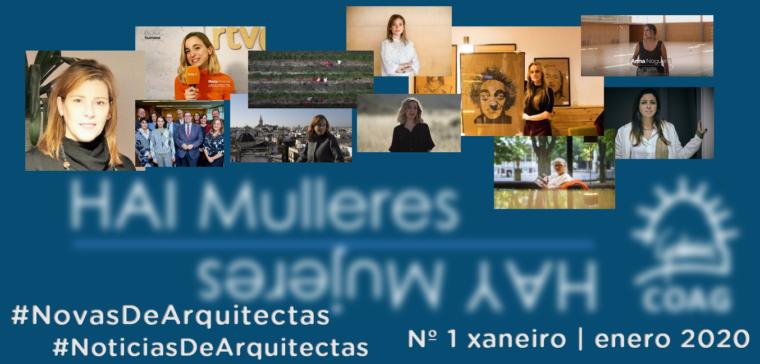 Dispoñible o nº 1 de #NovasDeArquitectas #NoticiasDeArquitectas