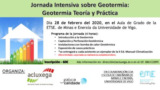 Jornada intensiva sobre geotermia: teoría y práctica