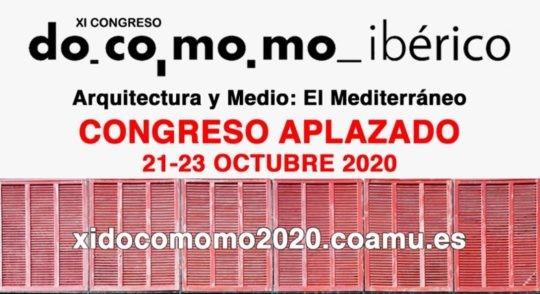 Aplazamiento del XI Congreso Docomomo Ibérico
