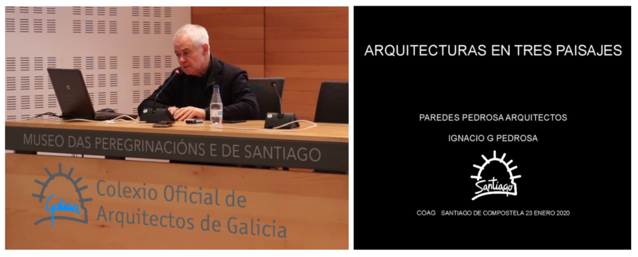 Dispoñible a gravación da conferencia de Ignacio Pedrosa, de Paredes Pedrosa Arquitectos