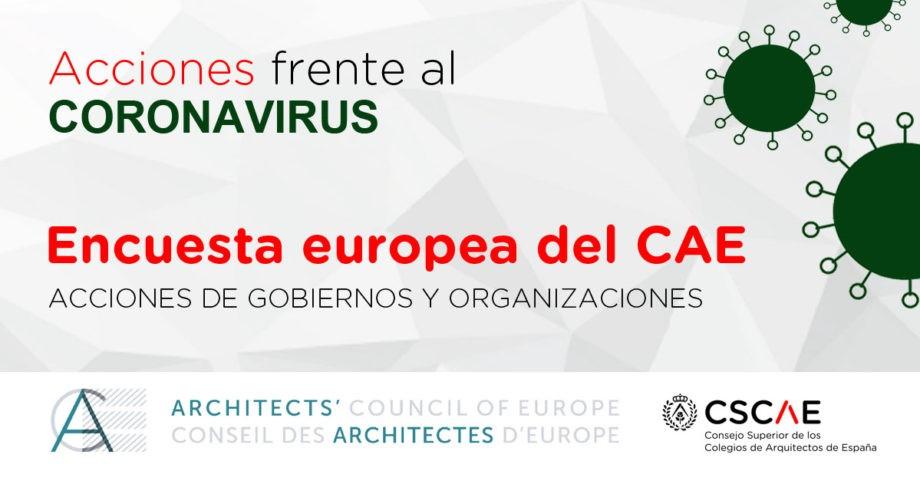 Impacto internacional del COVID-19: encuesta del Consejo de Arquitectos de Europa a sus organizaciones miembro