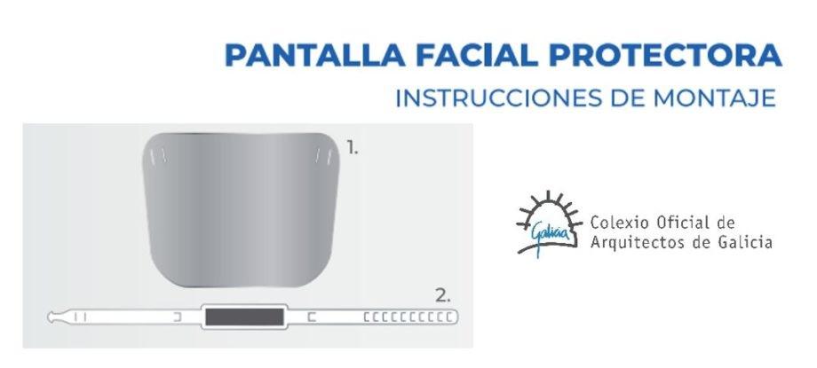 Instrucciones de montaje de la pantalla facial protectora