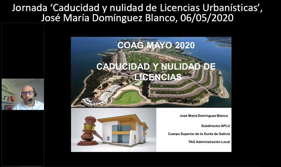 Disponible la grabación de la jornada 'Caducidad y nulidad de Licencias Urbanísticas'