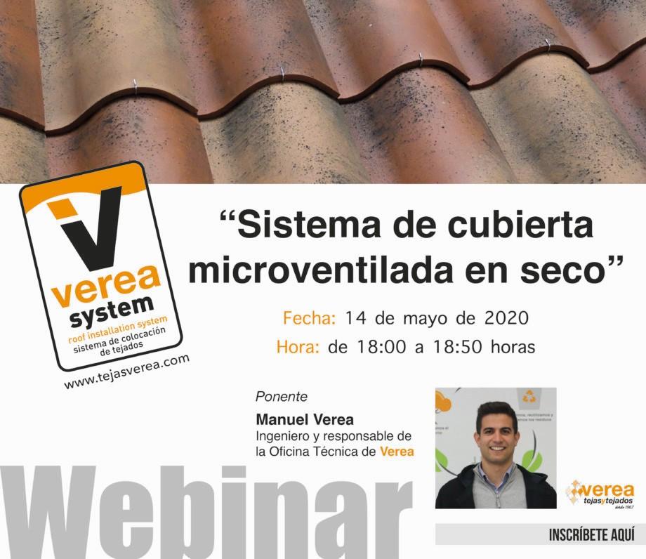 VEREA. Jornada online sobre cubiertas microventiladas en seco