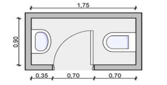 Informe técnico sobre a disposición de servizos hixiénicos en establecementos comerciais pequenos de acordo ao DB-SUA e DA DB-SUA-2