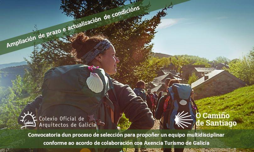 Ampliación de prazo e actualización de condicións da convocatoria dun proceso de selección para propoñer un equipo multidisciplinar conforme ao acordo de colaboración coa Axencia Turismo de Galicia