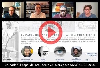 Jornada online «El papel del arquitecto en la era post COVID» – 11 junio 2020