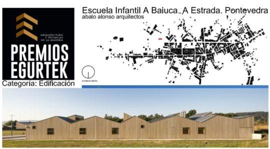 Premio Egurtek 2020 en Edificación a la Escuela Infantil A Baiuca en A Estrada