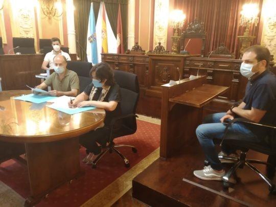 O Colexio e o Concello de Ourense colaborarán nun concurso de ideas para as marxes do río Miño