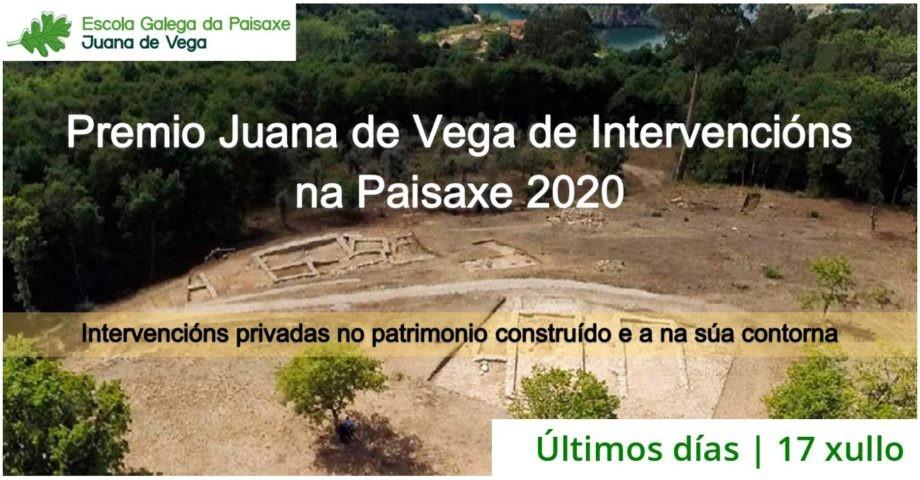 Últimos días de presentación Premio Juana de Vega de Intervencións na paisaxe 2020