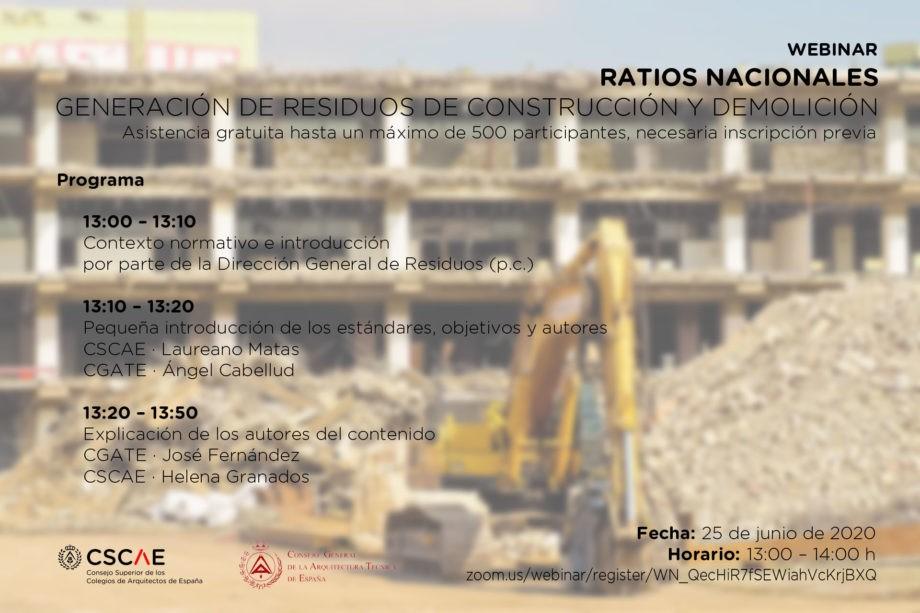 Webinar Ratios Nacionales. Generación de Ratios de Construcción y Demolición