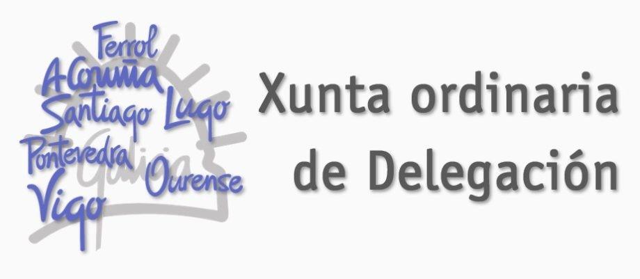 Convocadas Xuntas ordinarias de Delegación do mes de novembro