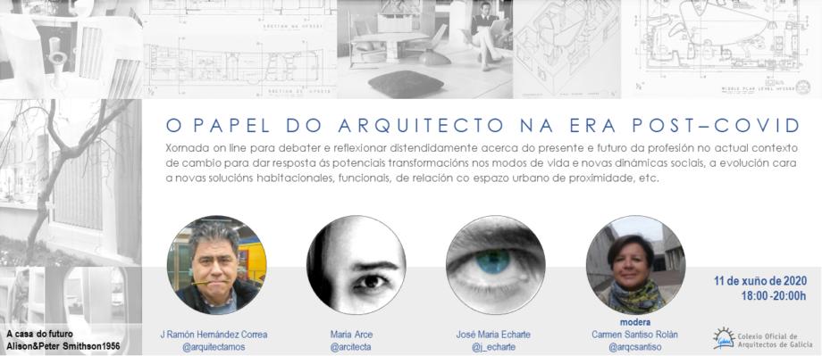 Jornada online «El papel del arquitecto en la era post-COVID»