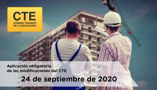 Aplicación obligatoria de las modificaciones del CTE a partir del 24 de septiembre