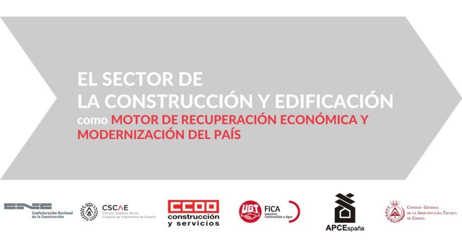 El sector de la construcción reclama un plan de recuperación que acelere su actividad y aproveche todo su potencial para generar empleo estable