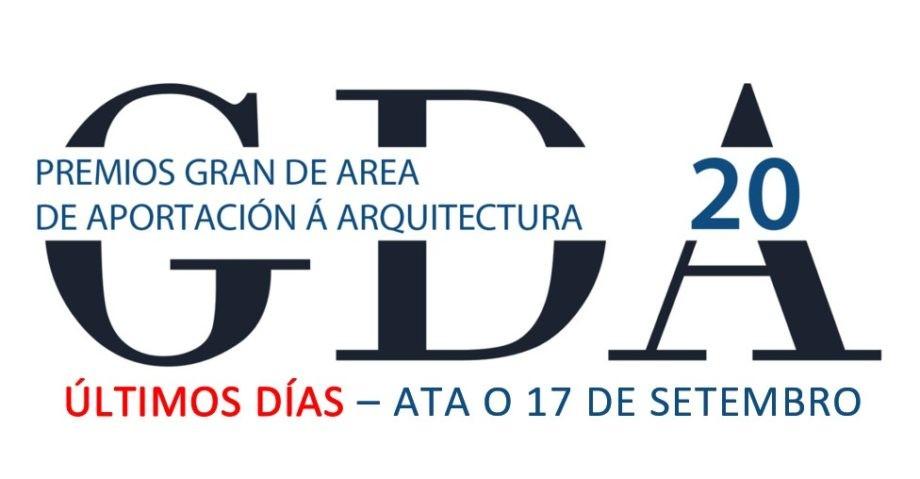 Últimos días para a presentación de candidaturas aos Premios «Gran de Area 2020»