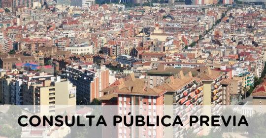 Consulta pública previa sobre el Anteproyecto de Ley por el Derecho a la Vivienda