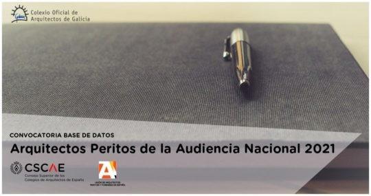 Convocatoria para la confección de la base de datos de Arquitectos Peritos de la Audiencia Nacional 2021