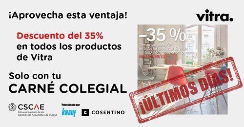 Descuento del 35% en productos de Vitra