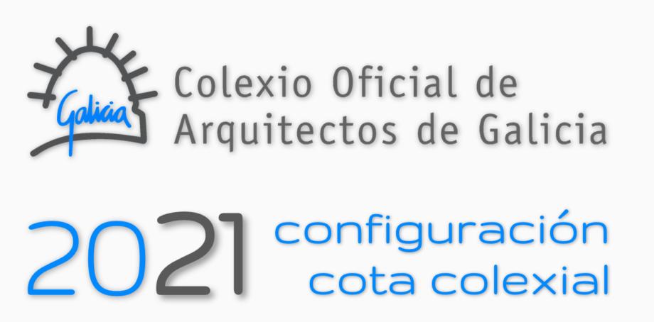 Apertura do prazo para a configuración da colexiación 2021