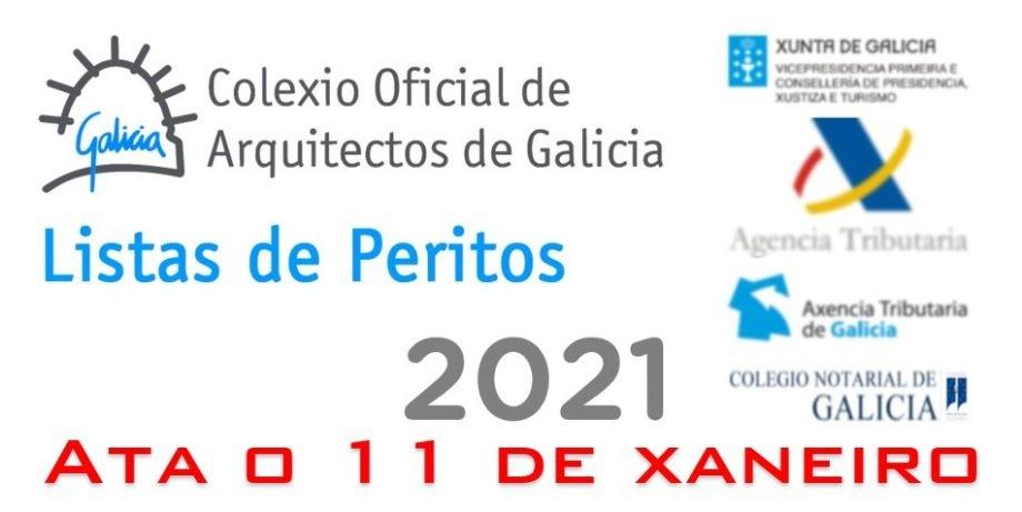 Últimos días para a inscrición nas listas de peritos do Colexio Oficial de Arquitectos de Galicia para o ano 2021