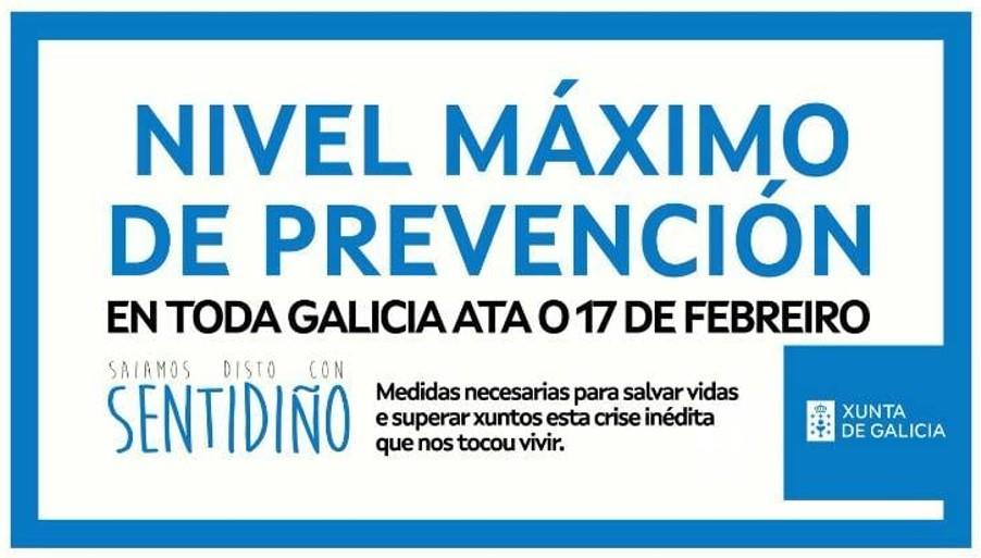 Indicacións sobre mobilidade no marco das novas medidas restrictivas da Xunta de Galicia con motivo da pandemia por COVID-19 (27/01/2021)