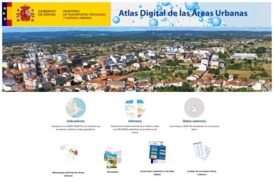 Actualización de la aplicación web del Atlas digital de las Áreas Urbanas  en España
