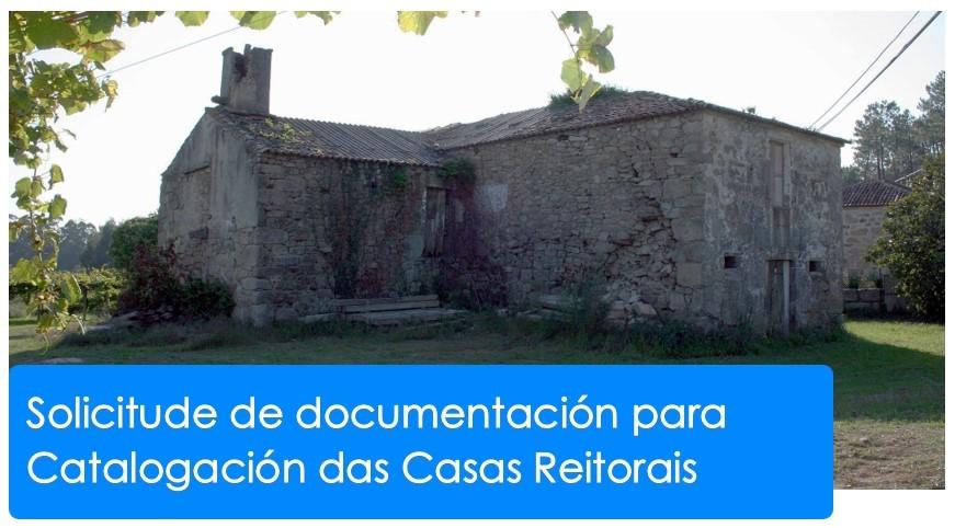 Solicitude de documentación para elaboración de publicación sobre Casas Reitorais