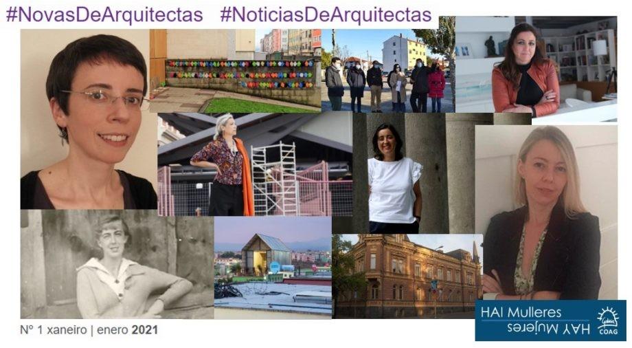 Dispoñible o número 1_2021 do boletín de #NovasDeArquitectas