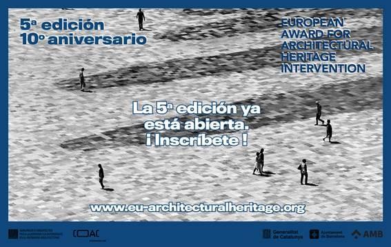 Abierta inscripción 5ª Eedición del Premio Europeo de Intervención en el Patrimonio Arquitectónico