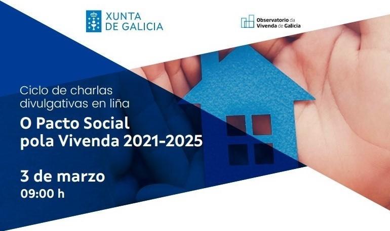 Charla en liña do Pacto de Vivenda de Galicia: Dispoñible a gravación