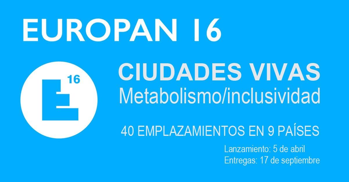 Decimosexta edición del concurso para jóvenes arquitectos EUROPAN: Ciudades vivas. Metabolismo / inclusividad