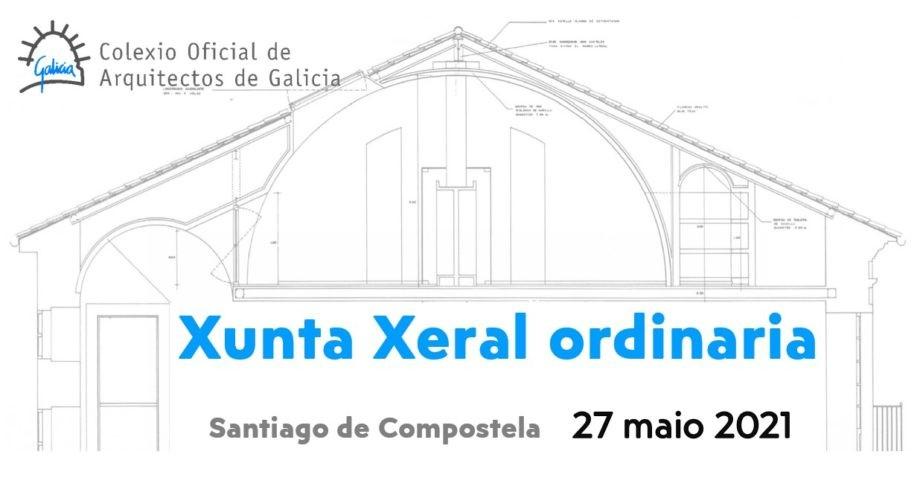 Convocatoria de Xunta Xeral ordinaria a celebrar o 27 de maio de 2021