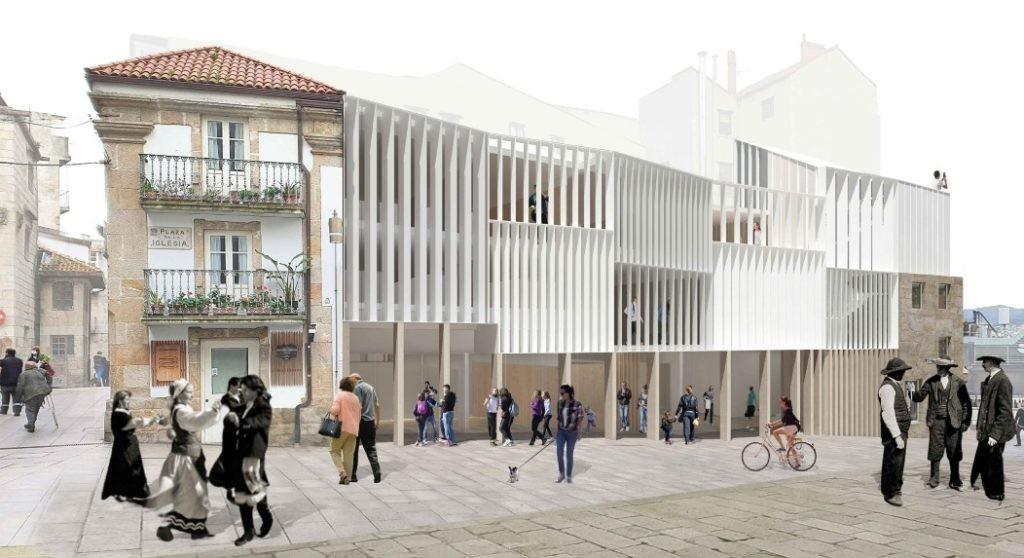 Primeiro Premio do Concurso de proxectos para a reforma de edificacións na Praza da Igrexa de Vigo