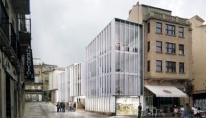 Terceiro Premio do Concurso de proxectos para a reforma de edificacións na Praza da Igrexa de Vigo