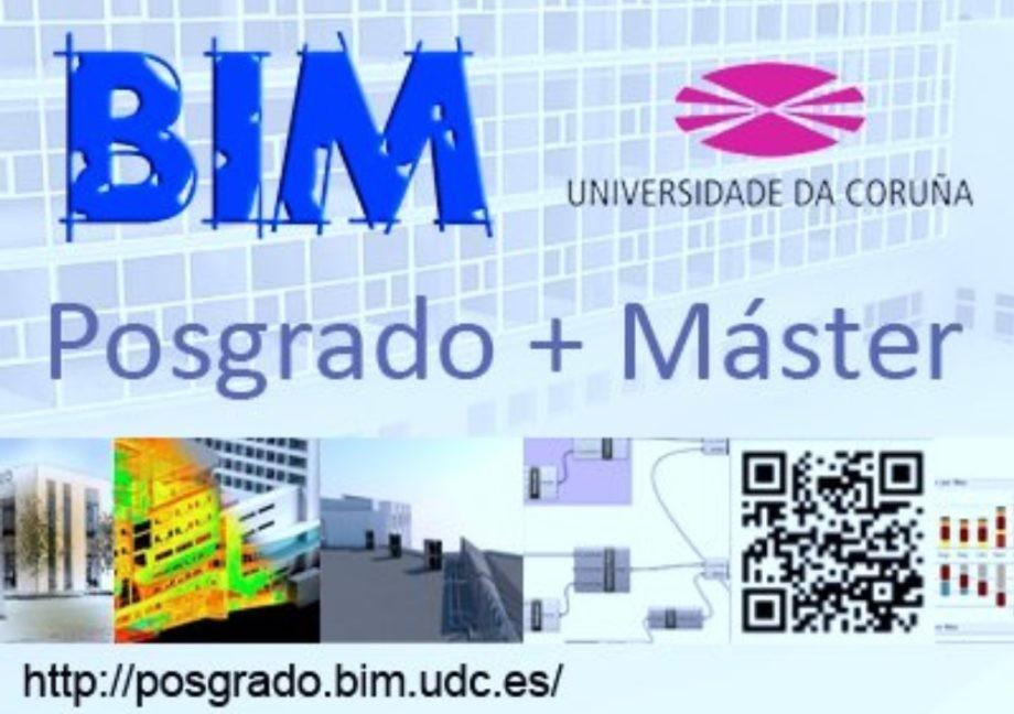 Arranque proceso de inscripción en el Posgrado + Máster BIM de la Universidade da Coruña