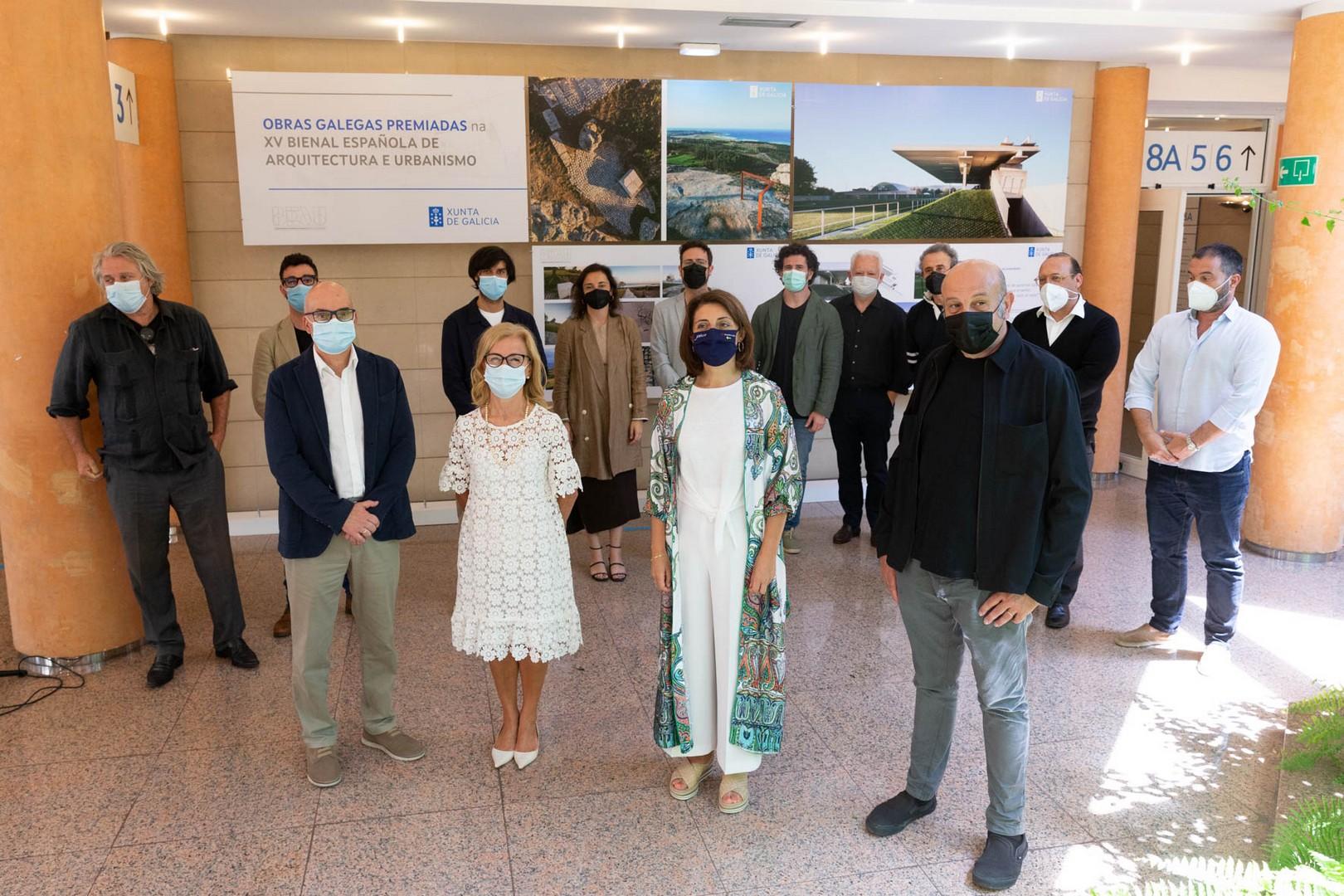 Inauguración exposición sobre as Obras galegas premiadas na XV Bienal Española de Arquitectura e Urbanismo