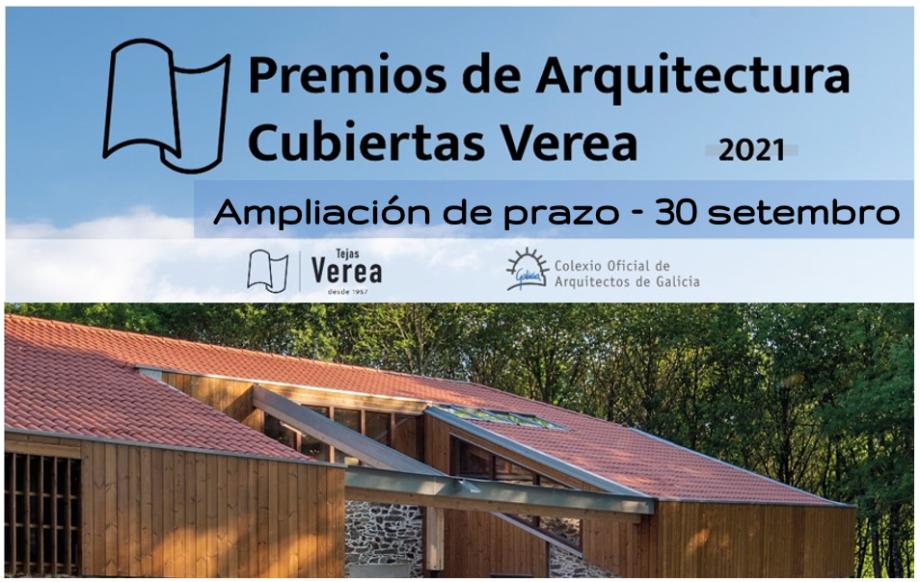 Ampliación de prazo dos Premios de Arquitectura Cubiertas Verea 2021